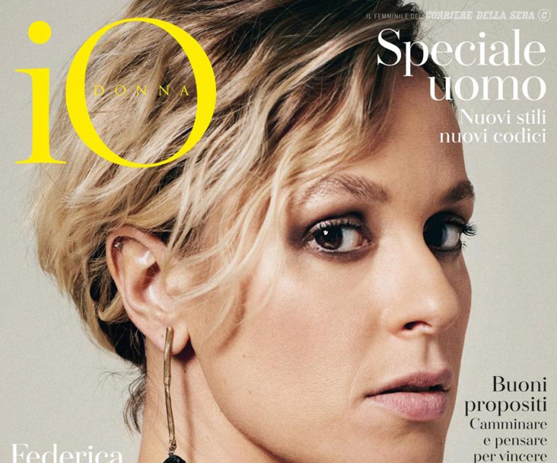 Federica Pellegrini sulla copertina di iO Donna