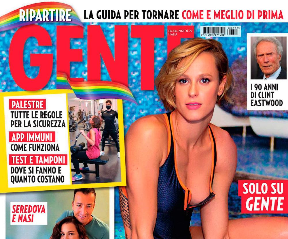 Federica Pellegrini sulla copertina di Gente