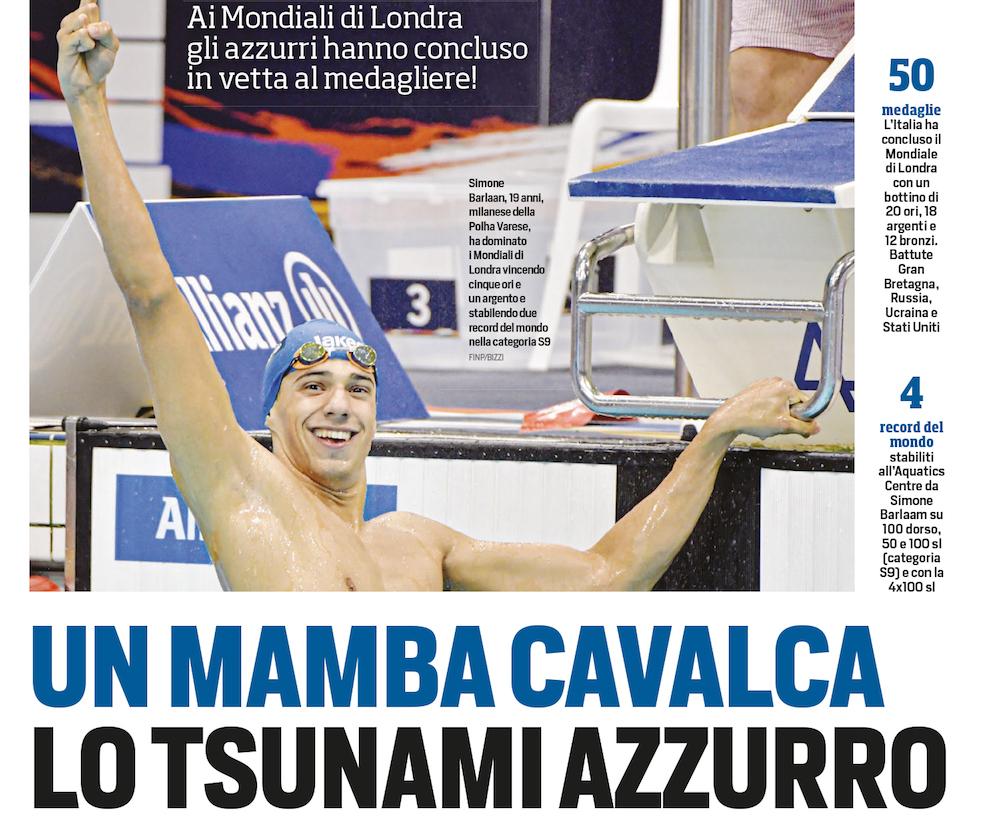 L'intervista a Simone Barlaam sul Corriere dello Sport