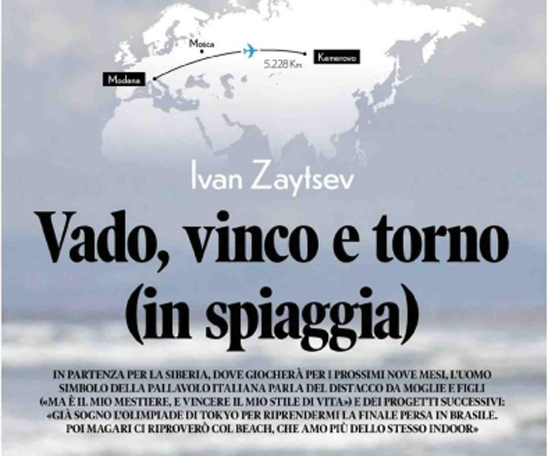 """Ivan Zaytsev parla della sua prossima sfida: """"Giocare in Russia in vista di Tokyo per me sarà un vantaggio"""""""