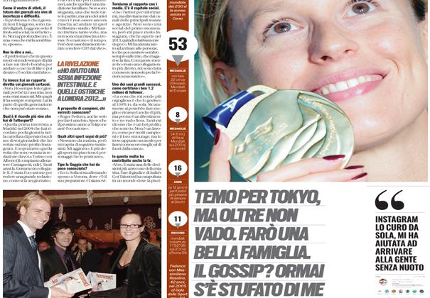 Gli auguri di Federica Pellegrini a Tuttosport e i suoi progetti per il futuro