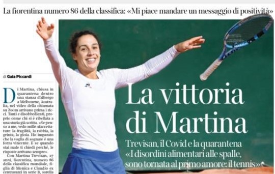 Martina Trevisan: una vittoria ricca di positività